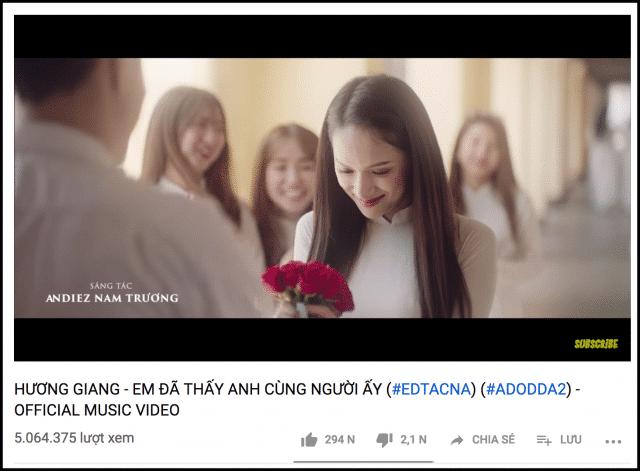 huong giang idol 5 million views