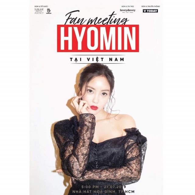 hyomin fan meeting july 2019 ho chi minh vietnam