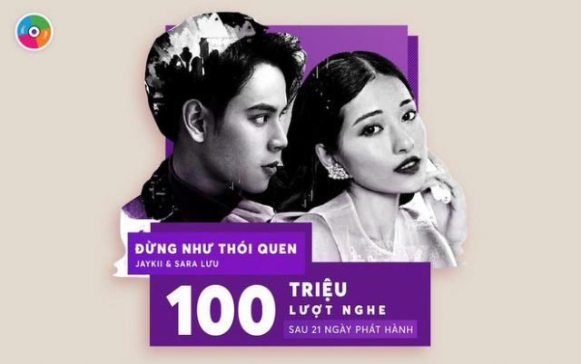 100 million views JayKii Sara Dung Nhu Thoi Quen