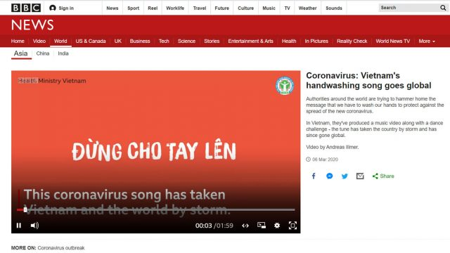 bbc coronavirus vietnam song