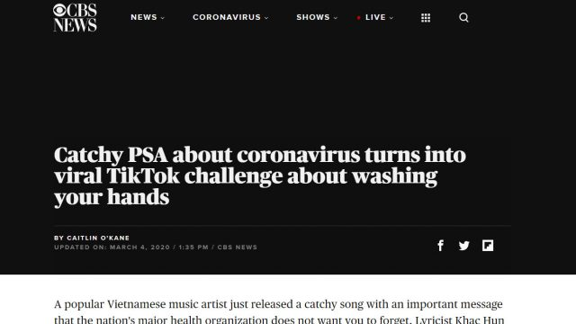 cbs this morning news coronavirus vietnam song