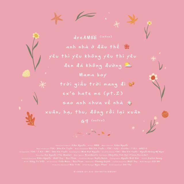 amee dreamee song list