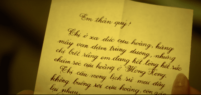 mrs nam phuong letter