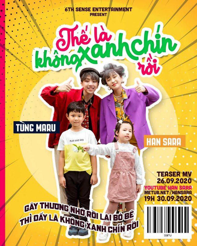 han sara the la khong xanh chin roi vpop news