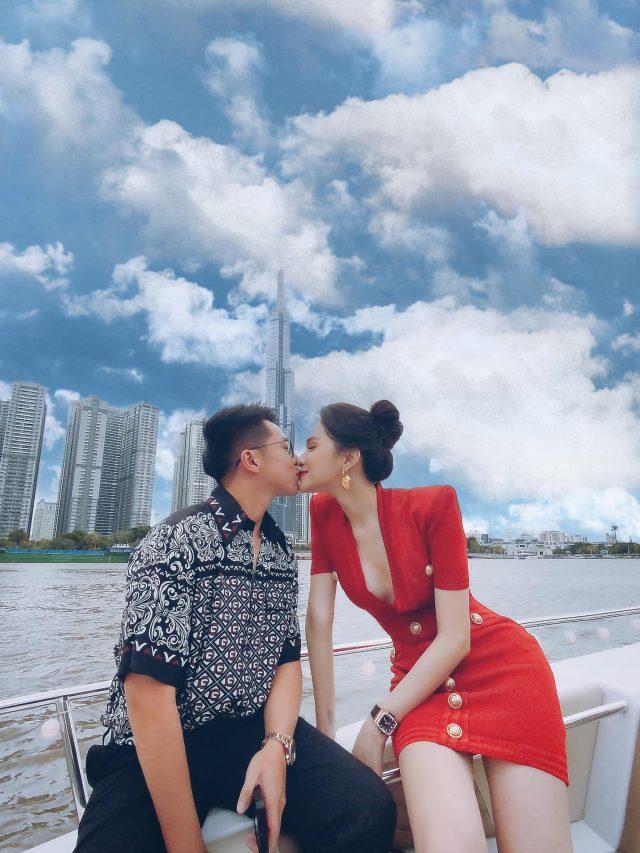 huong giang matt liu kissing on yacht