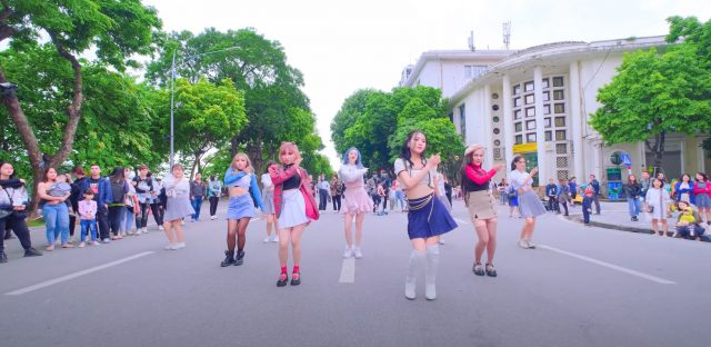 blackpink lovesick girls kpop in public cover