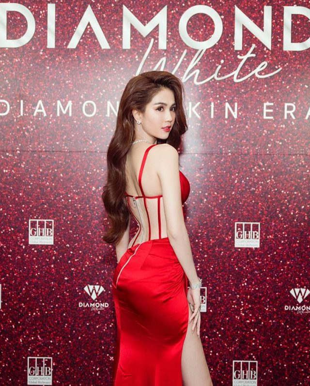 ngoc trinh diamond white vpop news
